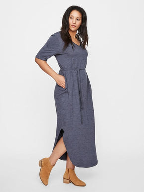 ORGANIC-COTTON ANKLE DRESS