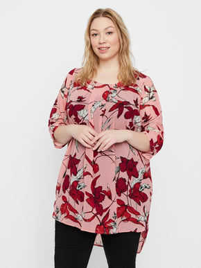 SEE-THROUGH FLORAL TUNIC