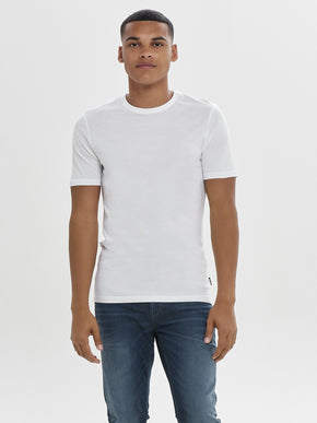 SOLID T-SHIRT WITH RAW EDGES