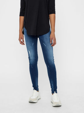 JEANS SKINNY NMLUCY À TAILLE BASSE