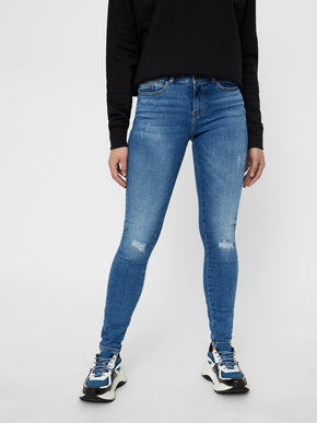 JEANS SKINNY NMLUCY À TAILLE NORMALE