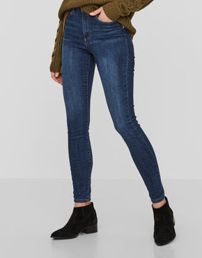 JEANS SKINNY NMLEXI À TAILLE HAUTE