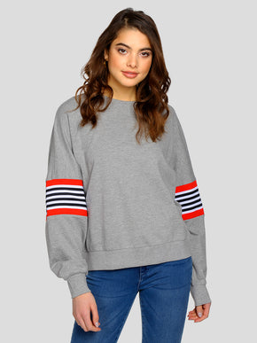 OVERSIZED SWEATSHIRT WITH RIBBED DETAILS