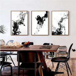 Abstract Ink Canvas Art Prints Wall