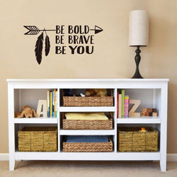 Be Brave Arrow Wall Sticker Quotes Wall Sticker be-brave-arrow-wall-sticker-1 Black / 56cm x 28cm