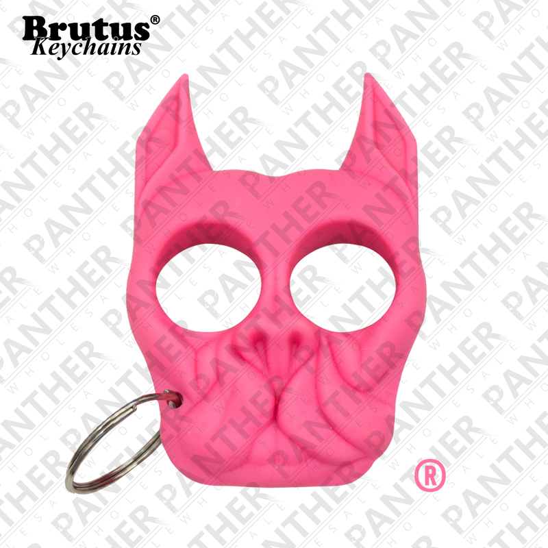 Brutus the Bull Dog - Public Safety Keychain - Pink