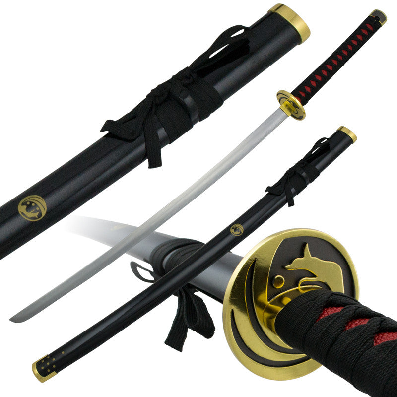Golden Wolf Katana Sword with Gold Finish Guard, , Panther Trading Company- Panther Wholesale