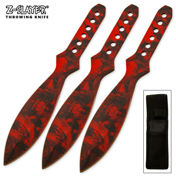 Dead Killer Throwing Knives Set 3 Piece Kit, , Panther Trading Company- Panther Wholesale