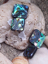 Dazzling and Tropical Abalone Shell Drop and Dangle Earrings - Sheryl Heading Designs