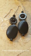 Black Onyx and Hematite Drop and Dangle Earrings - Sheryl Heading Designs