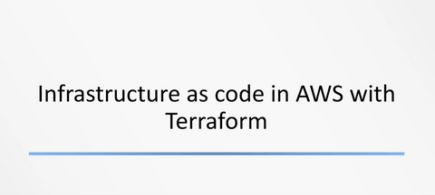 Infrastructure As Code In AWS With Terraform