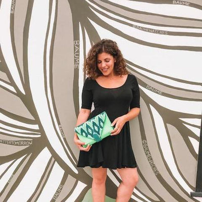 Grace Ikat Clutch | Green