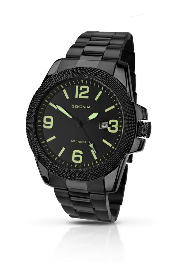 Sekonda All Black Mens Watch 1044