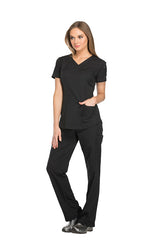 Black - Dickies Dynamix V-Neck Top