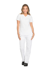White - Dickies Dynamix V-Neck Top