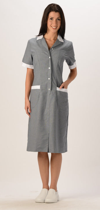 Avida Checkered Button Front Dress