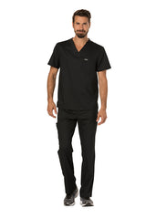 Black - Cherokee Workwear Revolution Men's V-Neck Top