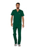 Hunter Green - Cherokee Workwear Revolution Men's V-Neck Top