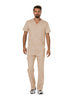 Khaki - Cherokee Workwear Revolution Men's V-Neck Top