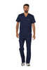 Navy - Cherokee Workwear Revolution Men's V-Neck Top