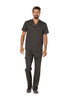 Pewter - Cherokee Workwear Revolution Men's V-Neck Top
