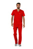 Red - Cherokee Workwear Revolution Men's V-Neck Top