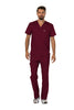 Wine - Cherokee Workwear Revolution Men's V-Neck Top