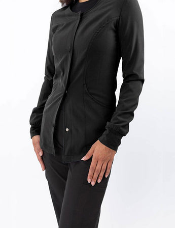 Green Town Zinnia - Warm Up Jacket - Black