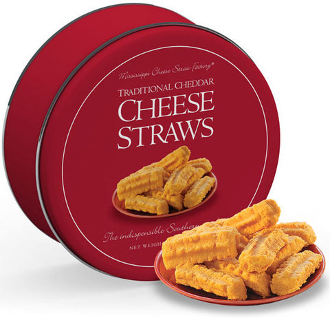 Cheddar Cheese Straws 16 oz Tin - TheMississippiGiftCompany.com