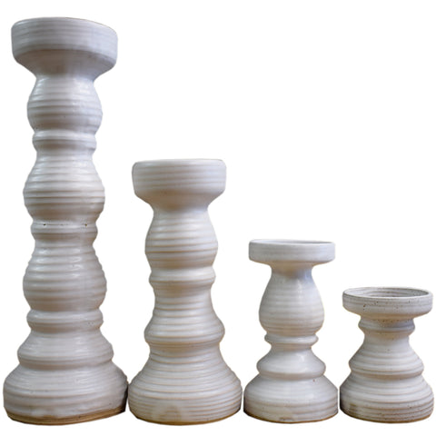Candlesticks- White - TheMississippiGiftCompany.com