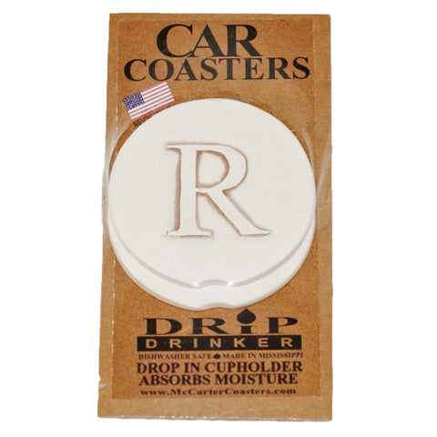 Initial Car Coaster - TheMississippiGiftCompany.com