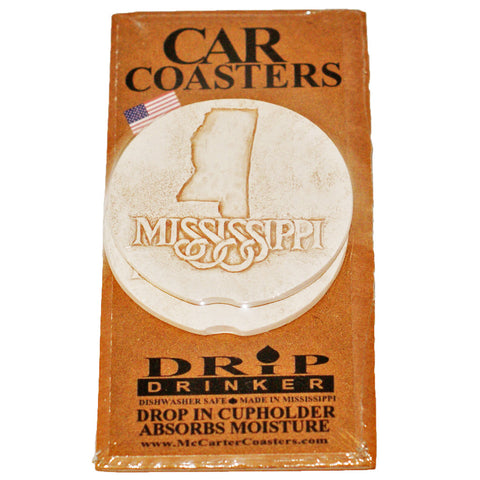 Mississippi Design Car Coaster - TheMississippiGiftCompany.com