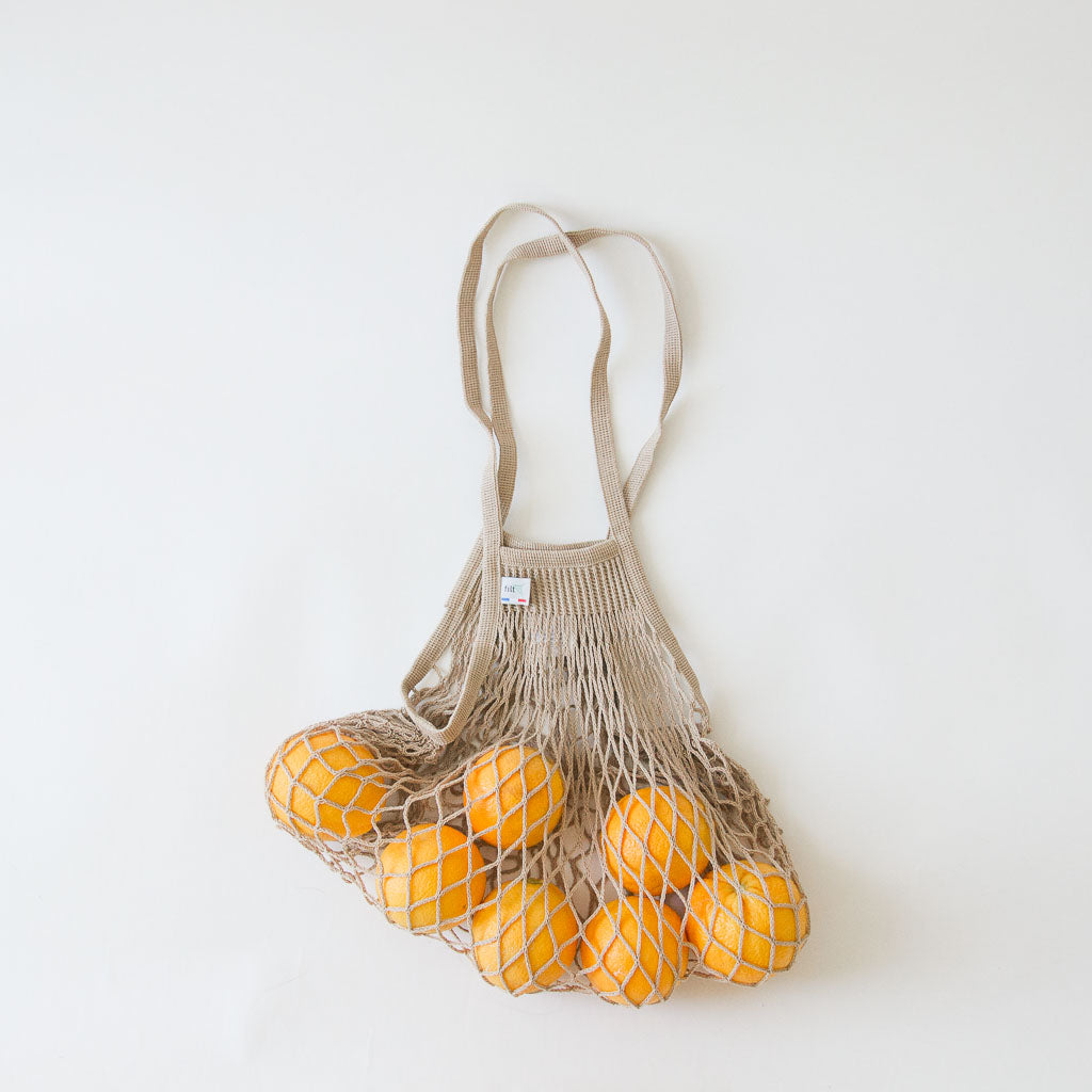 Beige French Net Bag