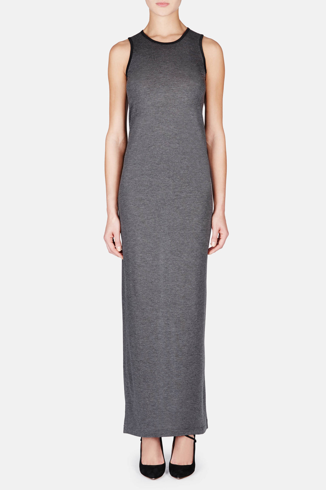 Long T-Shirt Dress - Heather Grey