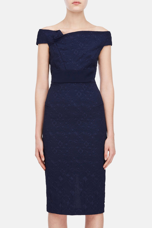 Monamy Dress - Navy