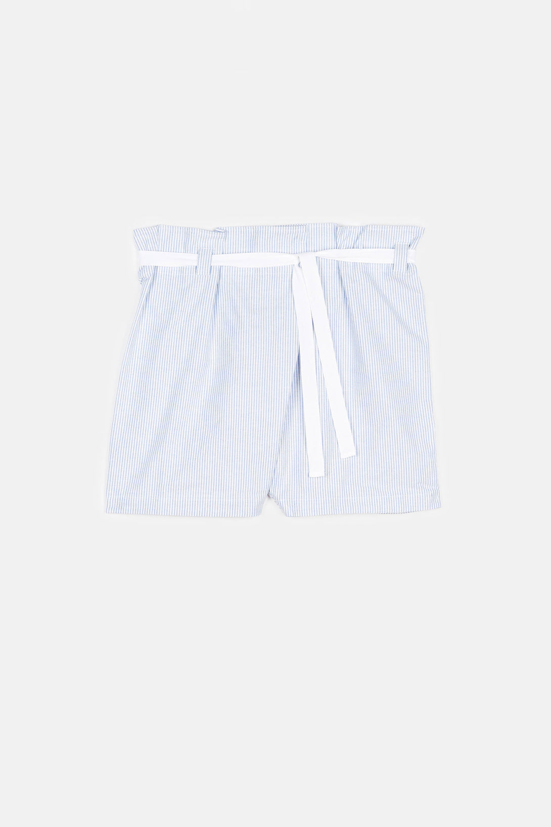 Oxford Stripe Fisherman's Short - Blue
