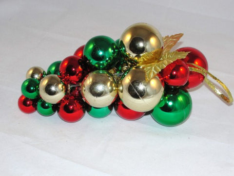 Plastic Christmas Balls for Wreath Decorations Red Green Gold - General Crafts - Craft Supply House