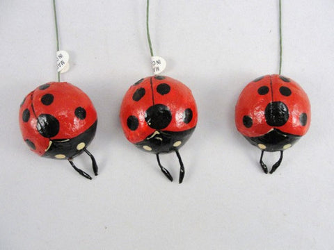 "Ladybug 1 1/2"" set of 3 floral supplies - Floral Supplies - Craft Supply House"
