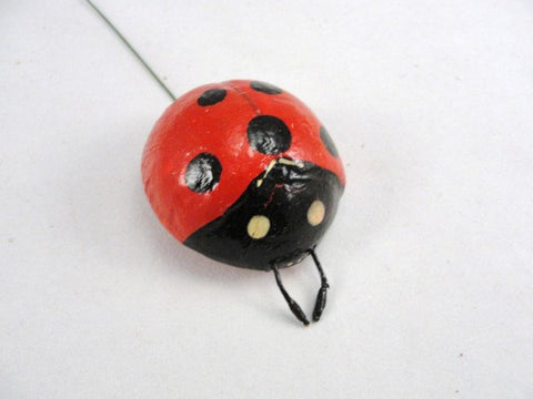 Red Ladybug 2 inches set of 3 floral supplies