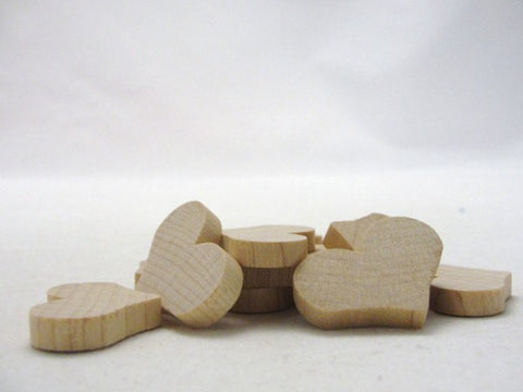 "12 Wooden country hearts 1 1/4 inch (1.25"") wide 3/16"" thick - Wood parts - Craft Supply House"