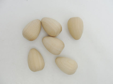 Wooden pigeon egg set of 6 - Wood parts - Craft Supply House