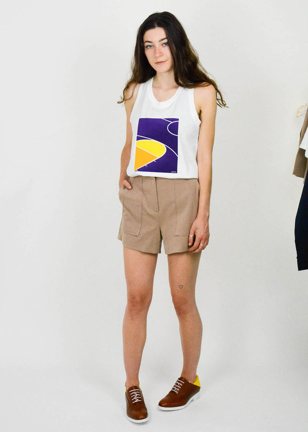 Khaki sailor shorts