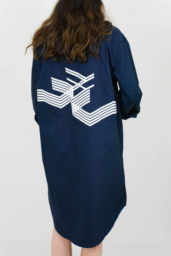 Abstract Shirt Dress