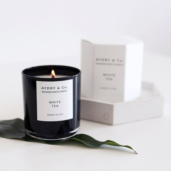 Aydry & Co. - Vintage Rose Wooden Wick Candle