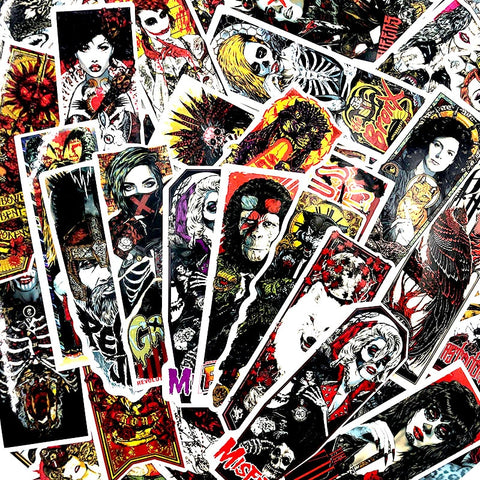 "50 PCS ""Gothic Thriller"" theme Stickers"