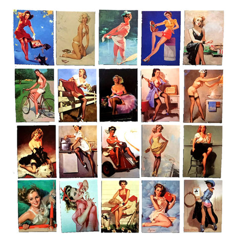 "100 PCS ""The Pinup Girls"" Waterproof Stickers-SALE"