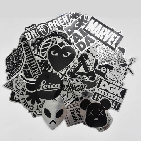 50pcs Special Edition Metallic Stickers
