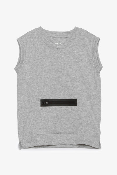 Jersey Tank with Zipper