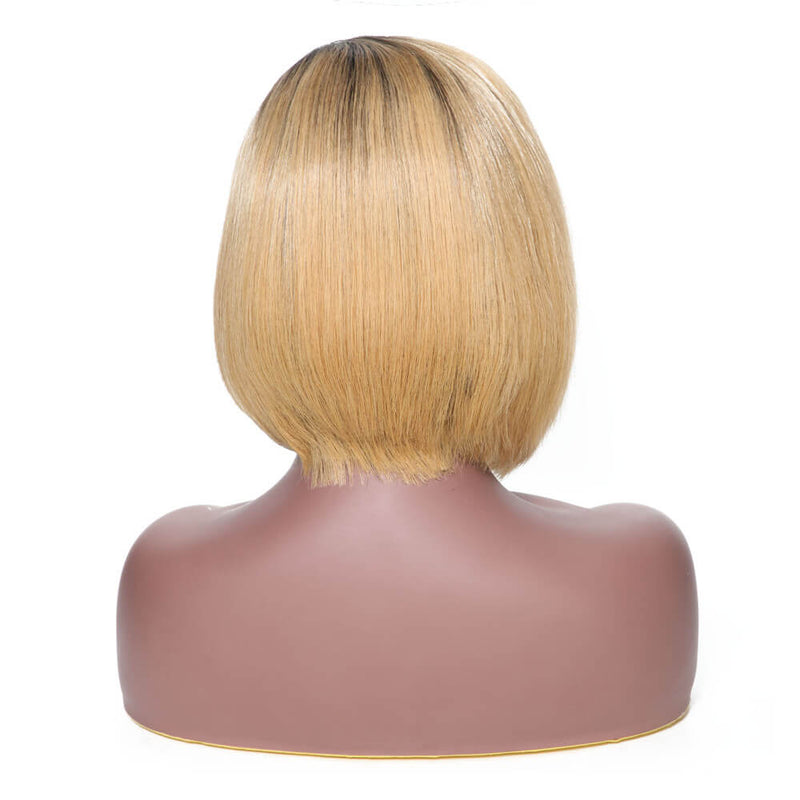 Ombre Color T1B/27 Straight Hair Bob Wig on Sales 130% Density Lace Front Wig 13*4 Lace Frontal Closure Yiroo Hair