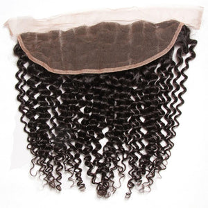 YIROO Jerry Curly Hair 1pcs 13x4 Lace Frontal Free Part Malaysian/Brazilian Human Virgin Hair
